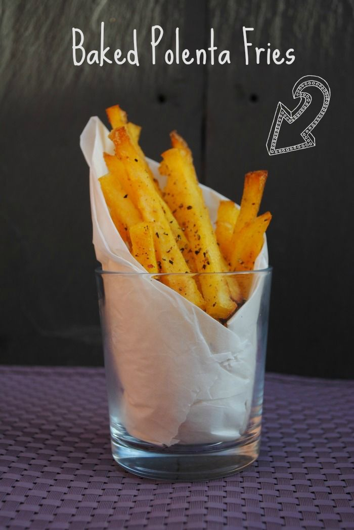 Oven baked garlic polenta fries.  I make my own polenta, spread it on a cookie sheet to firm up and cut it into fries.