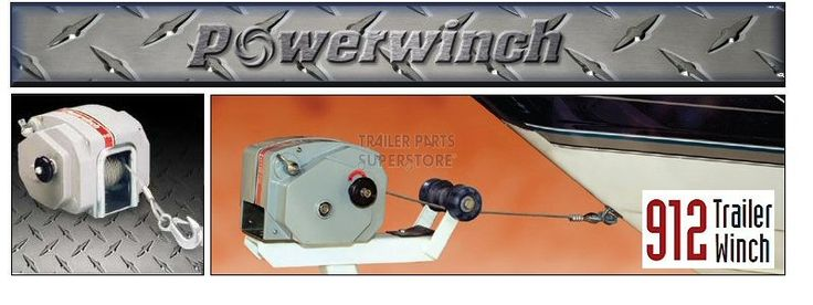 POWERWINCH 912 12V Electric Boat Trailer Winch #P77912