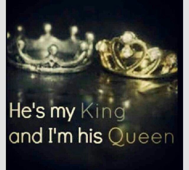 He's my king and I'm his queen | ❤️quoted | Pinterest | Queens ... via Relatably.com