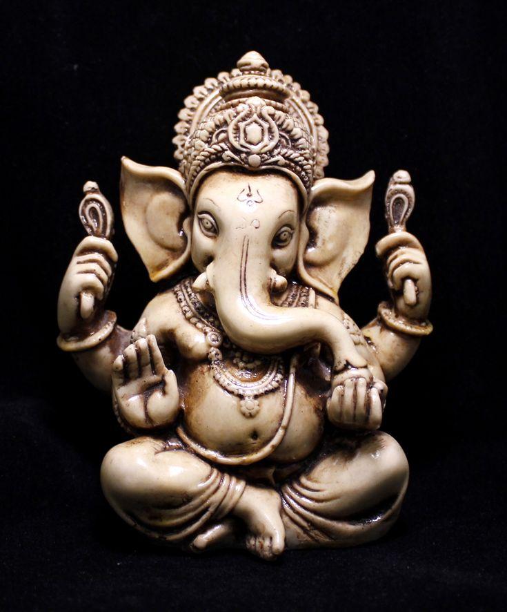 "(SKU No:lord ganesha resin statue_2) Hand Carved Meditating God Ganesha Resin Idol Sculpture Statue Size 5.5""x3.5""inches,for further information,please visit www.krishnamartindia.com"