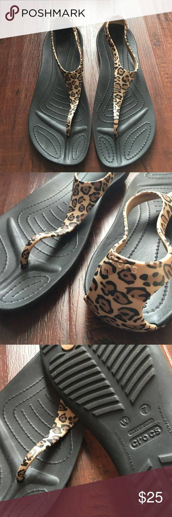 SALE Leopard Crocs Super Cute Croc Sandals! • Great for errands or outdoors! • Easy Clean just spray off with water! • So Comfortable! CROCS Shoes Sandals