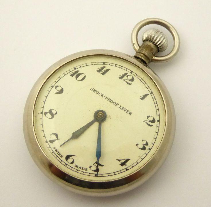Vintage Swiss Shock Proof Lever Mechanical Pocket Watch - The Collectors Bag