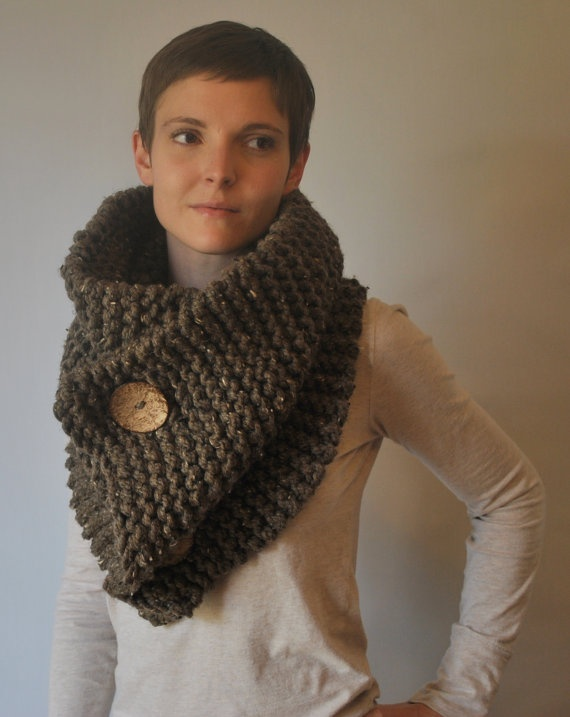 oversized chunky cowl shawl capelet neck warmer with by EStarKnits, $65.00
