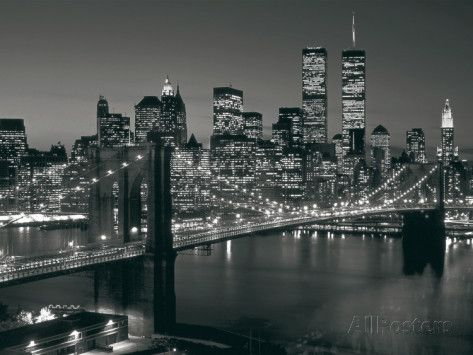 Manhattan Skyline at Night Prints by Richard Berenholtz at AllPosters.com