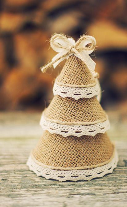 Christmas Tree Ornaments, Burlap Pine Tree Christmas Decorations, Holiday Home Decor, Christmas Gift