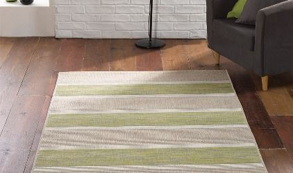 tappeto stile nordico righe verdi