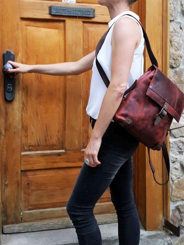 83 besten lederrucks cke backpacks bilder auf pinterest for Schule fur mode und design