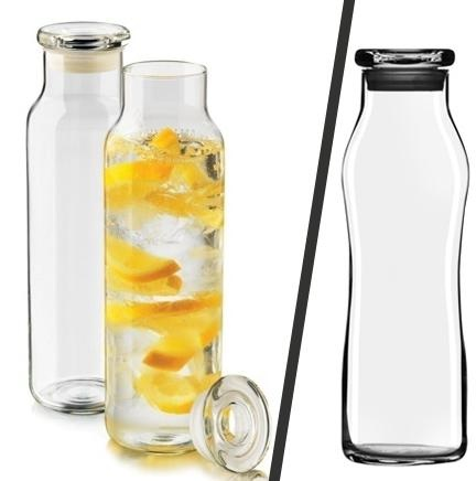 Libbey Hydration Bottle with Glass Lid    Good for storing juice after juicing veggies.    $2.99