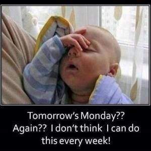 monday jokes and quotes | Funny Tomorrow's Monday Baby Meme Picture Joke - Tomorrow's Monday ...
