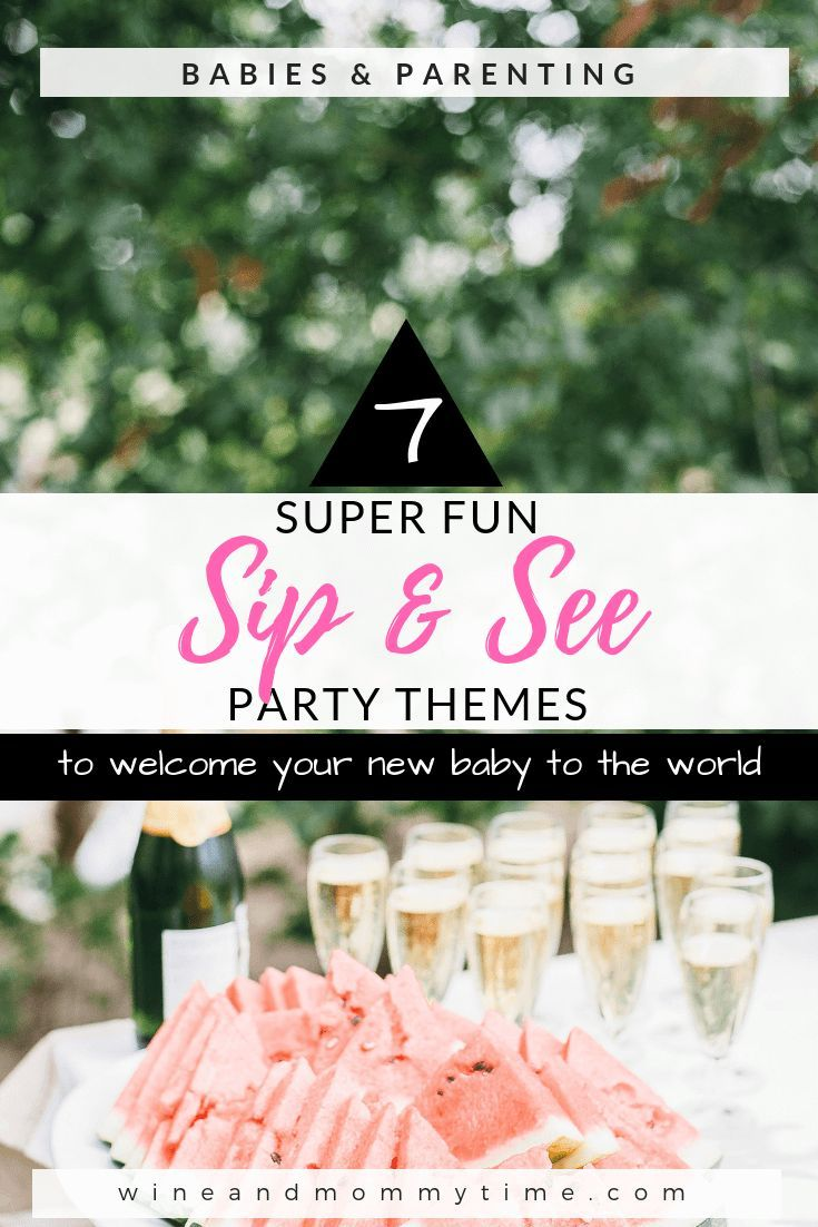 7 Super Fun Sip And See Party Themes Sip And See Baby Boy Sip
