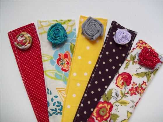 : Flowers Bookmarks, Gifts Ideas, Books Club, Cute Bookmarks, Fabrics Bookmarks, Fabrics Books, Bookmarks 016, Fabrics Flowers, Christmas Gifts