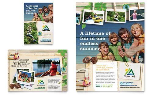 Kids Summer Camp - Flyer Template Design Sample
