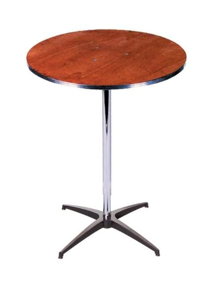 30 Round High Cocktail Table 30 Diameter 42 Height Renta