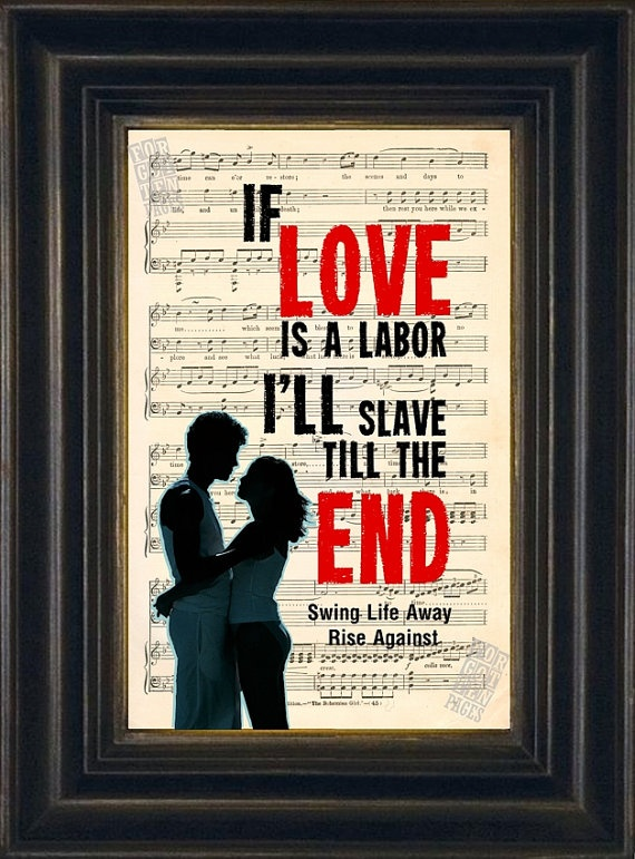 Rise Against Swing Life Away lyric on Repurposed by ForgottenPages, $8.00