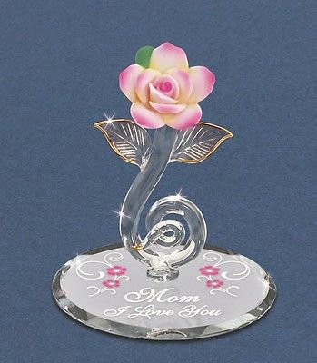 Pink Rose Mom I Love You ~ Great Mother's Day Gift P1 802-M