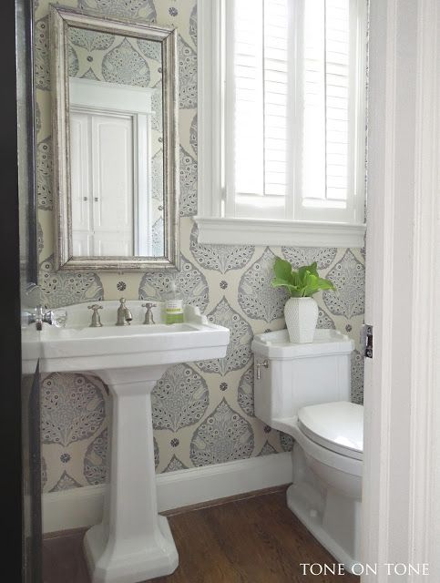 Tone on Tone: Powder Room Renovation