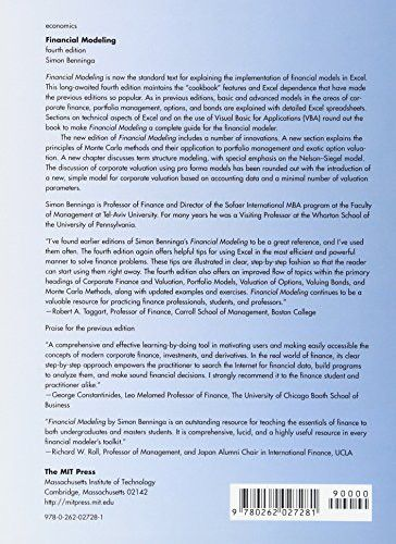 Financial Modeling (MIT Press)