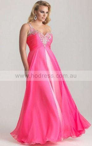 One Shoulder Floor-length Chiffon Dropped Zipper Evening Dresses gt0452