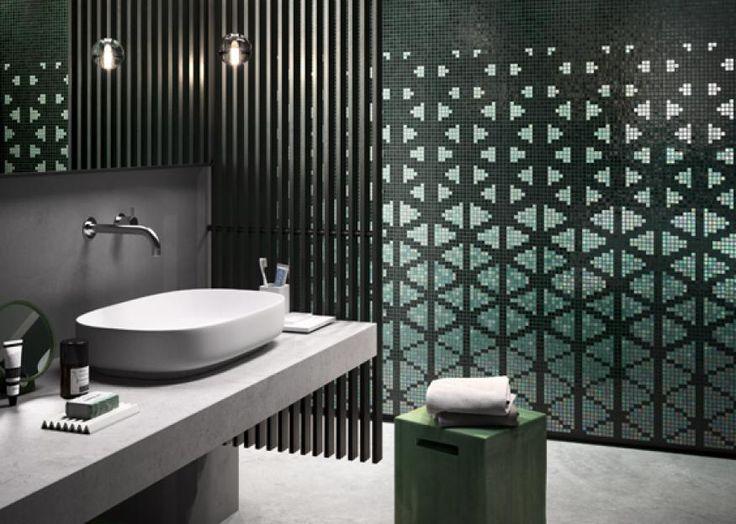 Decor 15x15_Shine Through Green  #mosaicopiu #mosaic #glassmosaic