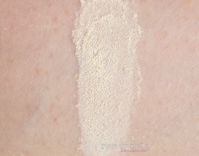 Review and swatches Kryolan Translucent Powder in TL4, a dupe for Ben Nye Banana Powder.