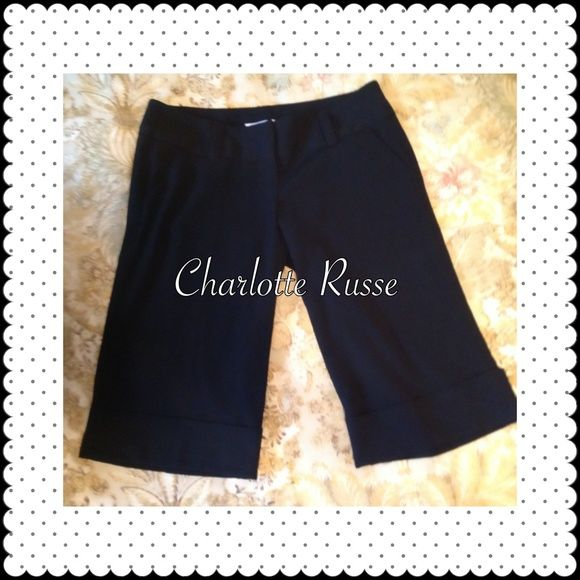 *CLOSET CLEAR OUT* Charlotte Russe Black Crop Pant Like new Black Cropped Dress Pants, Size 5. They hit me just at the knee. Excellent condition! Charlotte Russe Pants Ankle & Cropped