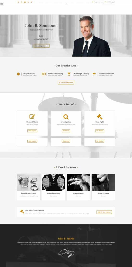 The Best Websites Images On Pinterest Free Stencils Lawyer - Lawyer website template