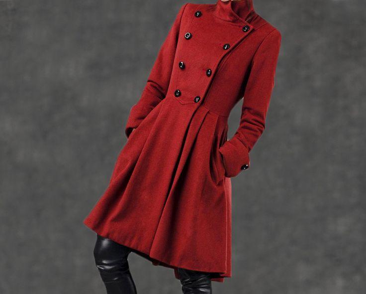 Manteau militaire femme laine