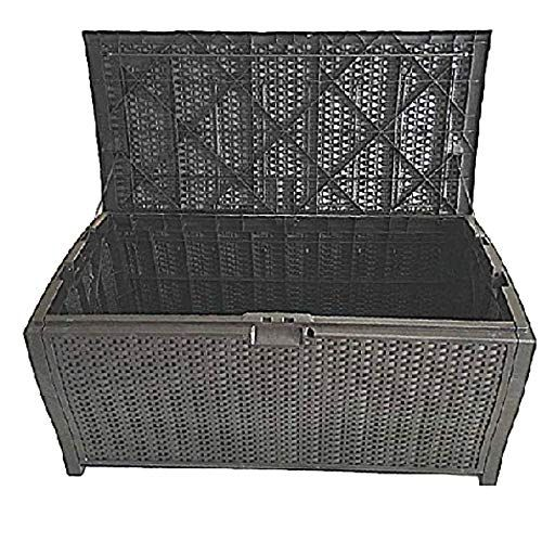 100 Gallon Outdoor Storage Box Wicker Patio Furniture Extra Large Garage Heavy Duty Deck Resin Bench Lock Container Ebook The