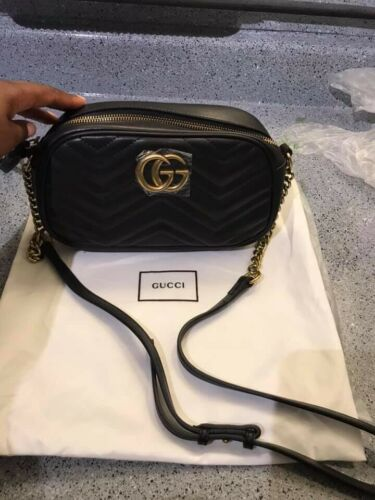 87ec61589506 Details about Authentic Brand New Gucci Marmont Mini Cross Body ...