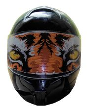 Tiger motorcycle helmet visors and motorcycle helmet shields from Iron Horse Motorcycle Helmets 800-978-9468.