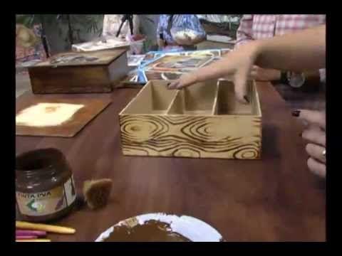 Vida com Arte | Caixa com Efeito de Madeira por Luiz Poletti - 28 de Janeiro de 2015 - YouTube