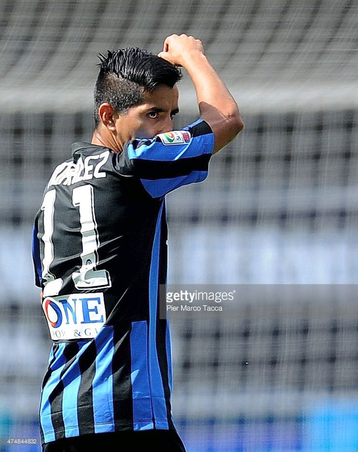 Maximiliano Moralez of Atalanta BC in action during the Serie A match between AC Chievo Verona and Atalanta BC at Stadio Marc'Antonio Bentegodi on May 24, 2015 in Verona, Italy.