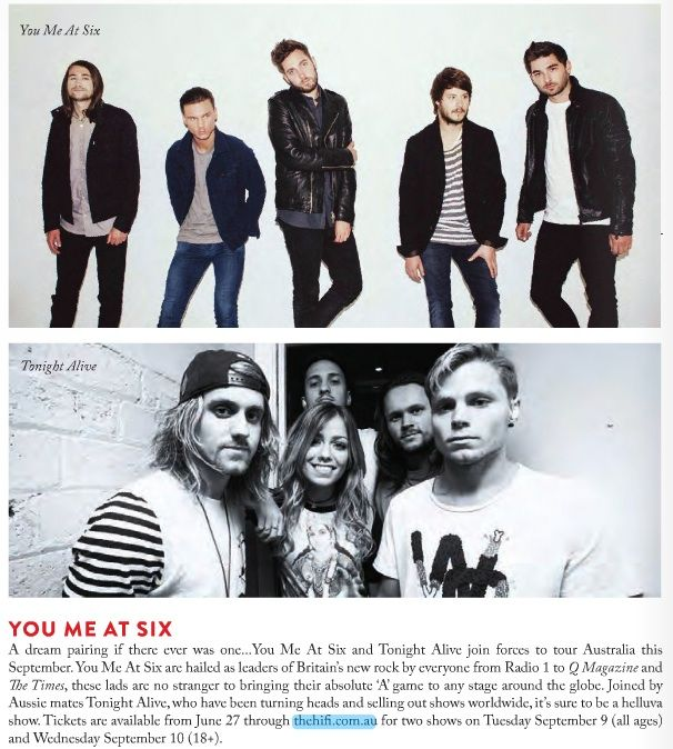 You Me At Six tour announcement - Beat 25.6
