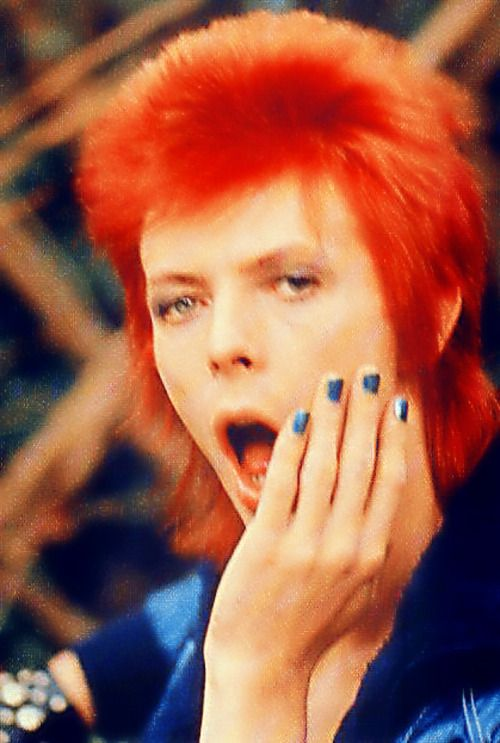 David Bowie's hair was such an amazing colour!