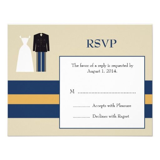 Army Wedding Invitation Rsvp Card