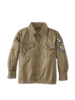 86% OFF Alpha Industries Boy's Patterson Shirt (Olive Green)