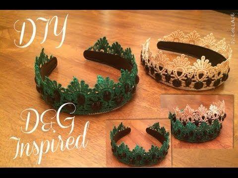 DIY: Как сделать Ободок (тиара/корона) в стиле D&G