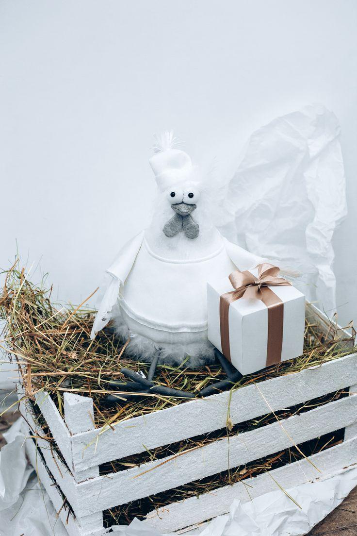 Chicken home decor, gift 2017, hen, Christmas decor