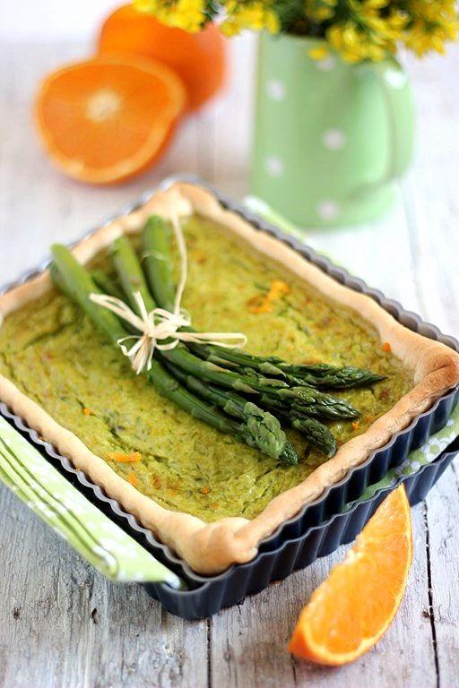 Quiche di asparagi e arancia | MIEL & RICOTTA