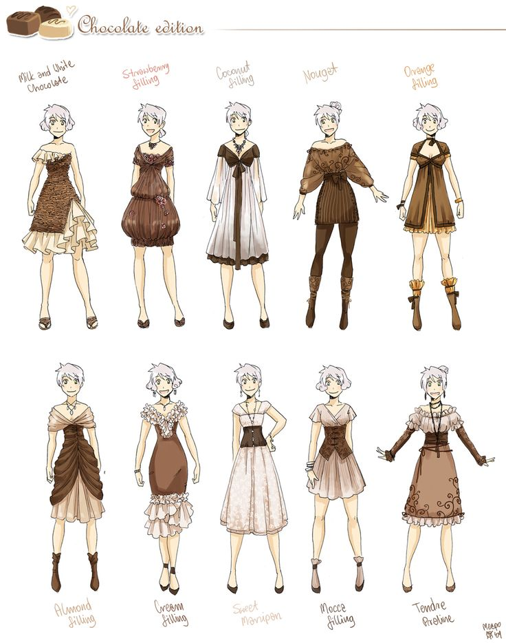Various female clothes 6 by meago.deviantart.com on @deviantART