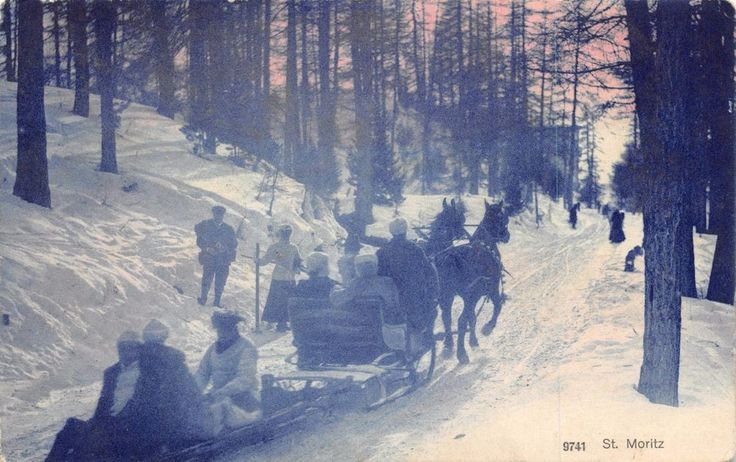 #retweet #postcards Vintage 1912 Postcard St. Moritz, Horse Drawn Slay, Switzerland #S #RT 50% OFF when you Buy 3+
