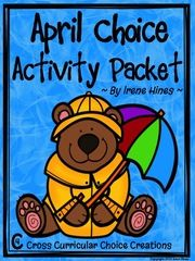 April Choice Activity Packet: Spring No Prep - April Choice Activity Packet: Spring No Prep Cross-Curricular Anchor Activities For Second Grade!This is the first packet of my new line: Cross-Curricular Choice Creations!This choice activity packet is perfect for independent anchor activities! Teachers can provide differentiation due to student choice of activities. With teacher guidance, each child sets an individual goal to complete. I have my students keep them in their classwork folders…