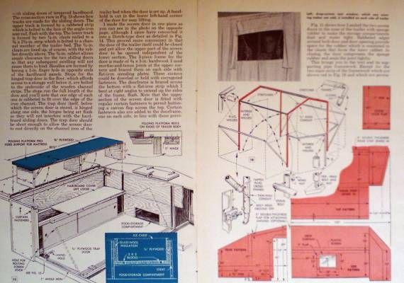 How to Build Pop Up Camping Tent Trailer camper Original 1954 DIY Article Plan   eBay