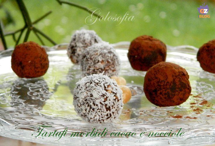 Tartufi+morbidi+cacao+e+nocciole,+ricetta+semplice+golosa