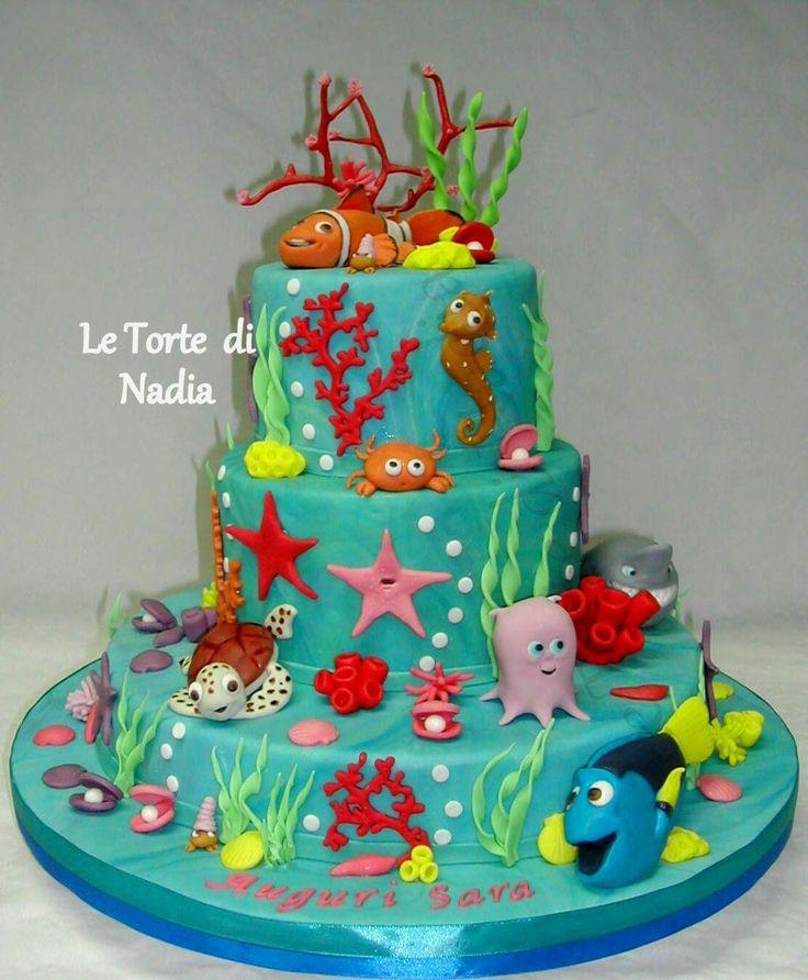 """Torta """"Alla Ricerca di Nemo""""  Info: 389 9355816 anche WhatsApp"""