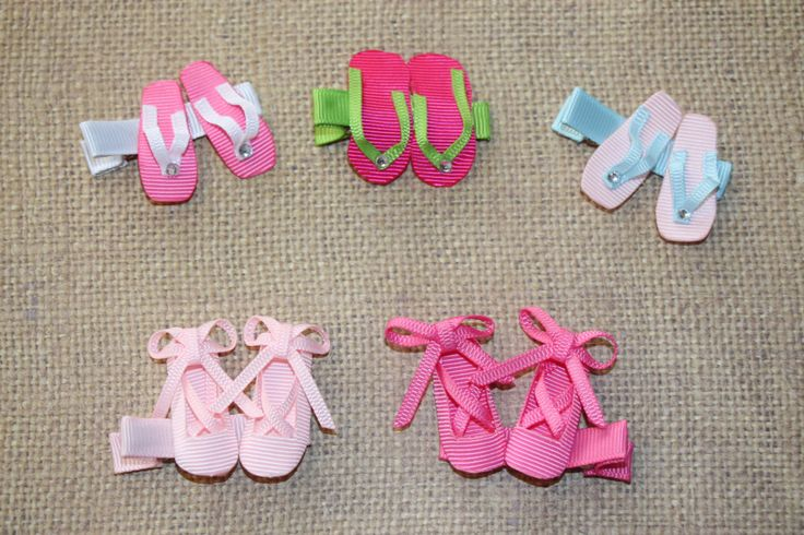 Ribbon Scupture Hair Clips/Shoe
