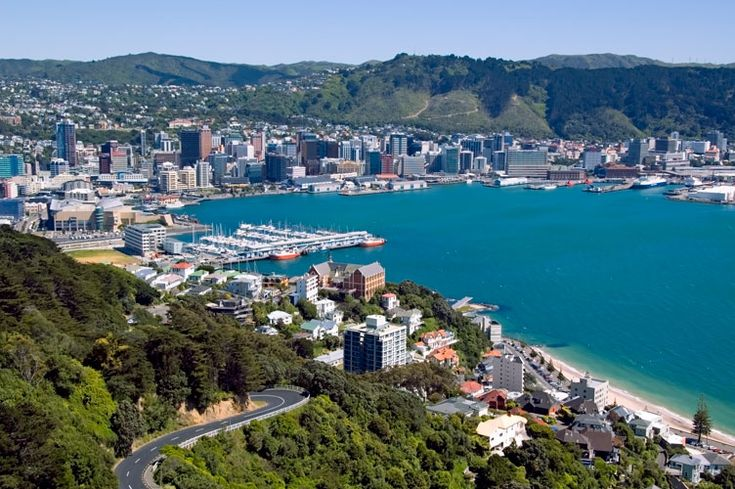 view from Mt Victoria, Wellington, New Zealand