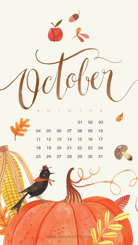 Oana Befort October 2015 Calendar on Flickr. Credit: Oana Befort