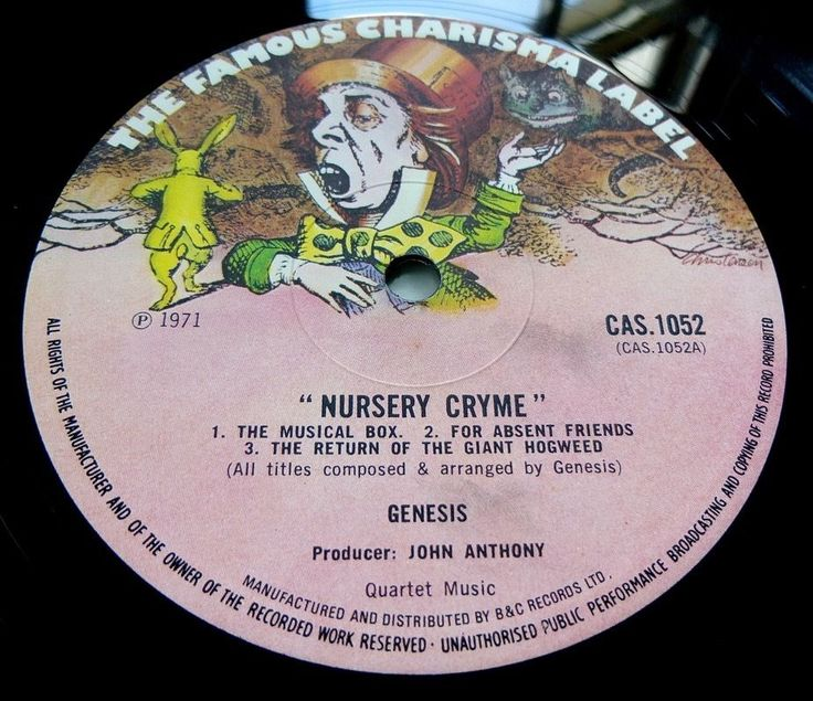 GENESIS Nursery Cryme 1972 UK CHARISMA 2nd PRESS w/ Twilight Alehouse  FLEXI NM