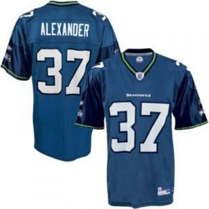 Reebok Seattle Seahawks Shaun Alexander 37 Blue Authentic Jerseys Sale